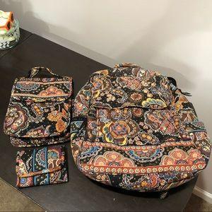 Vera Bradley Kensington bundle of 3 Backpack...